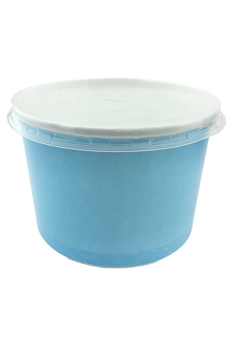 Kapaklı Karton Çorba Kasesi Mavi 7x11cm 25li