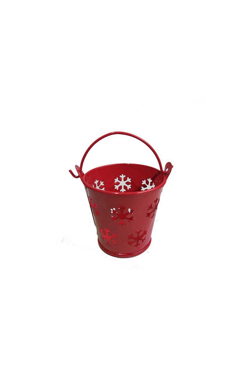 Kova Kar Desenli Kırmızı Pakette 10 Adet