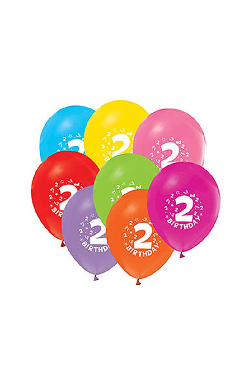 2 Yaş Baskılı Balon 10lu