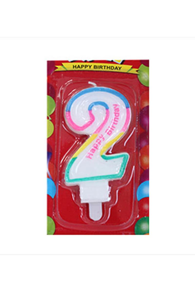 2 Yaş Doğum Günü Mum 1 Adet