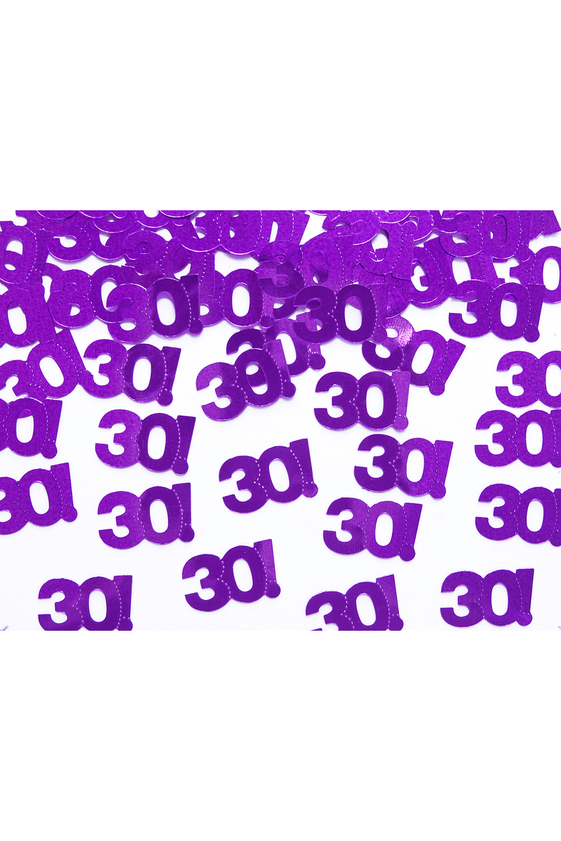 30 Yaş Metalik Mor Masa Konfetisi 15gr - Thumbnail
