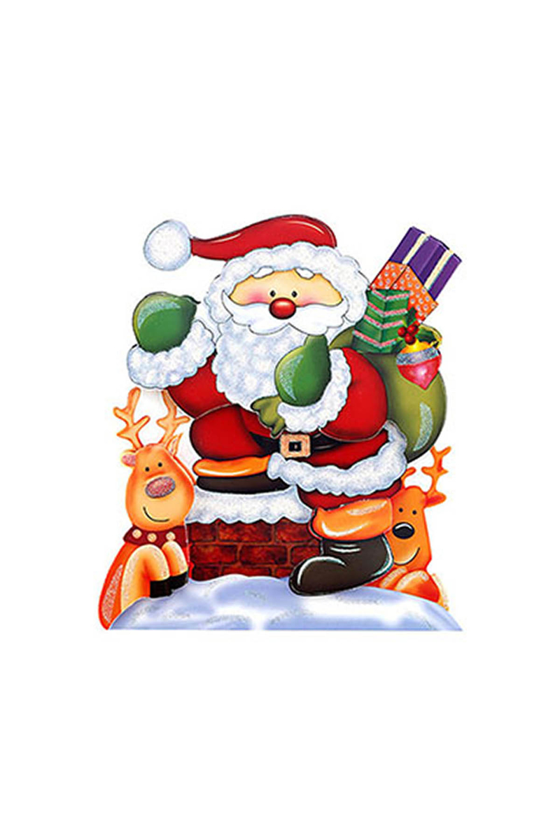 3D Efektli Noel Baba Mini Poster 1 Adet - Thumbnail