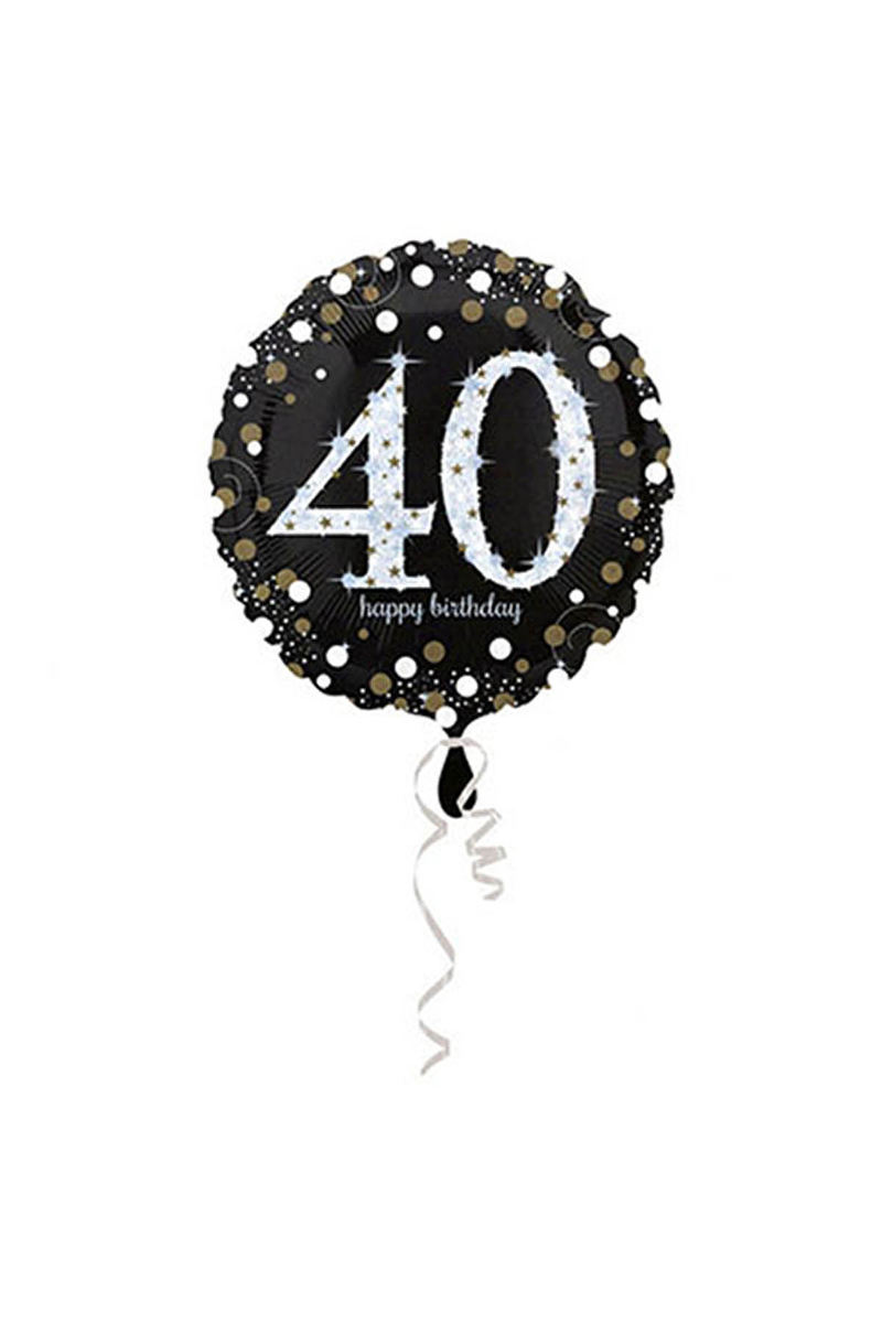 40 Yaş Doğum Günü Folyo Balon 43cm 1 Adet