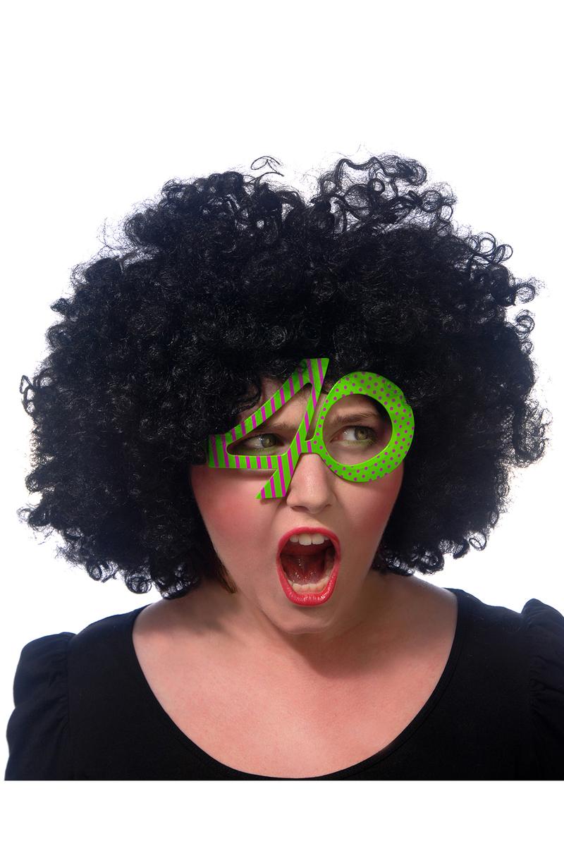 40 Yaş Şekilli Yeşil Gözlük 1 Adet