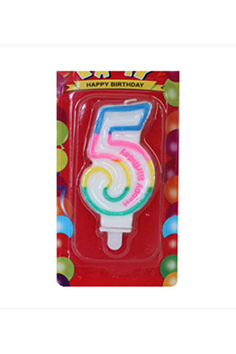5 Yaş Doğum Günü Mum 1 Adet