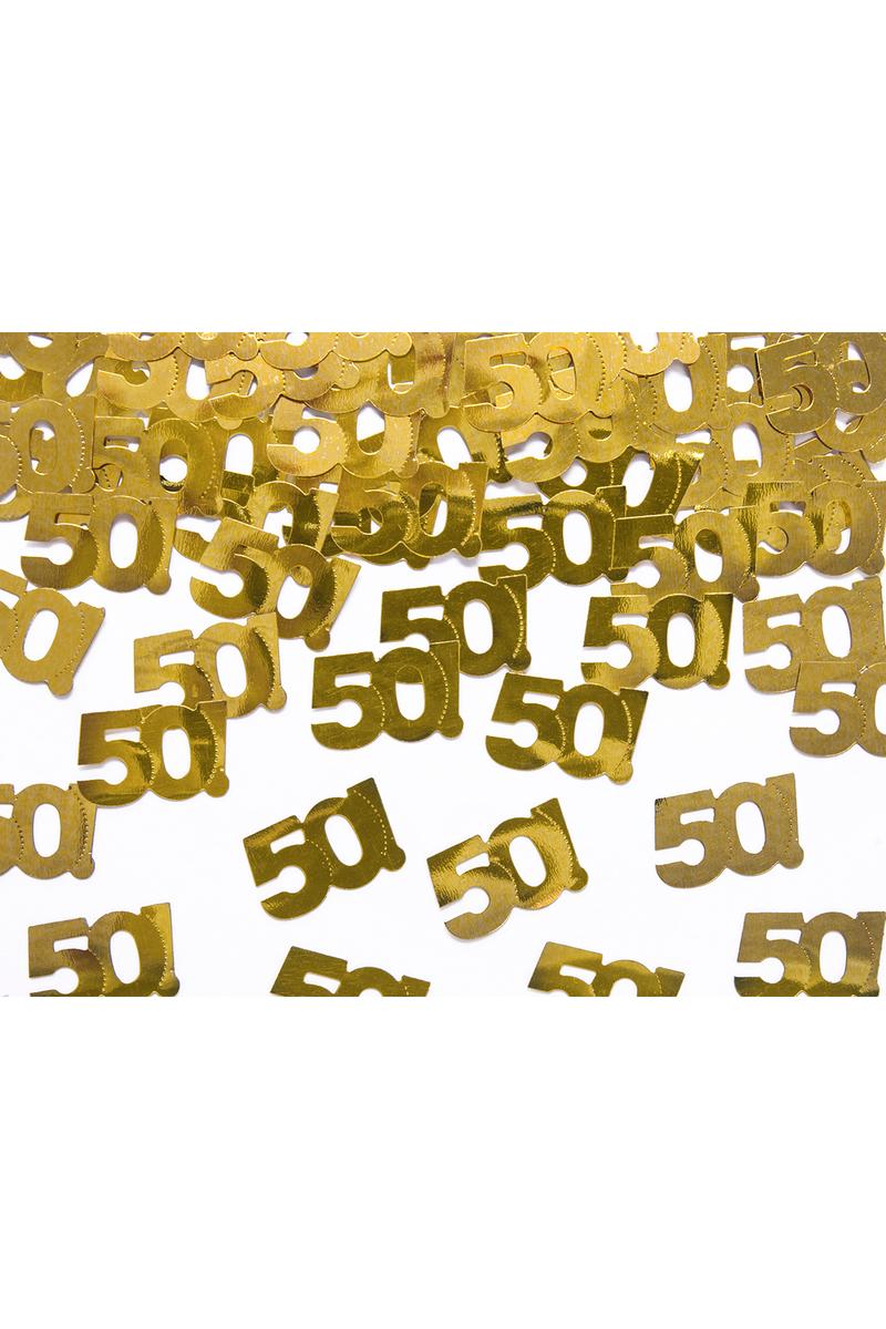 50 Yaş Metalik Altın Masa Konfetisi 15gr