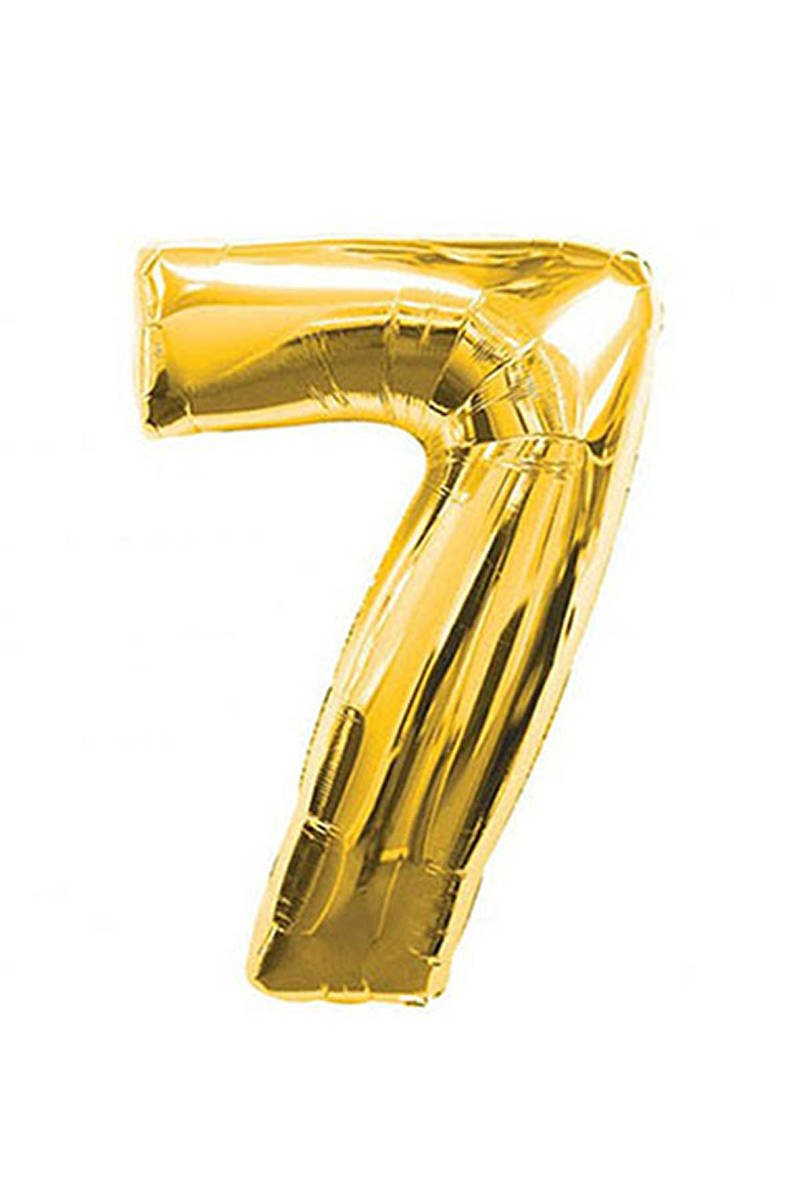 7 Rakam Altın Folyo Balon 90cm (40 inch) 1 Adet