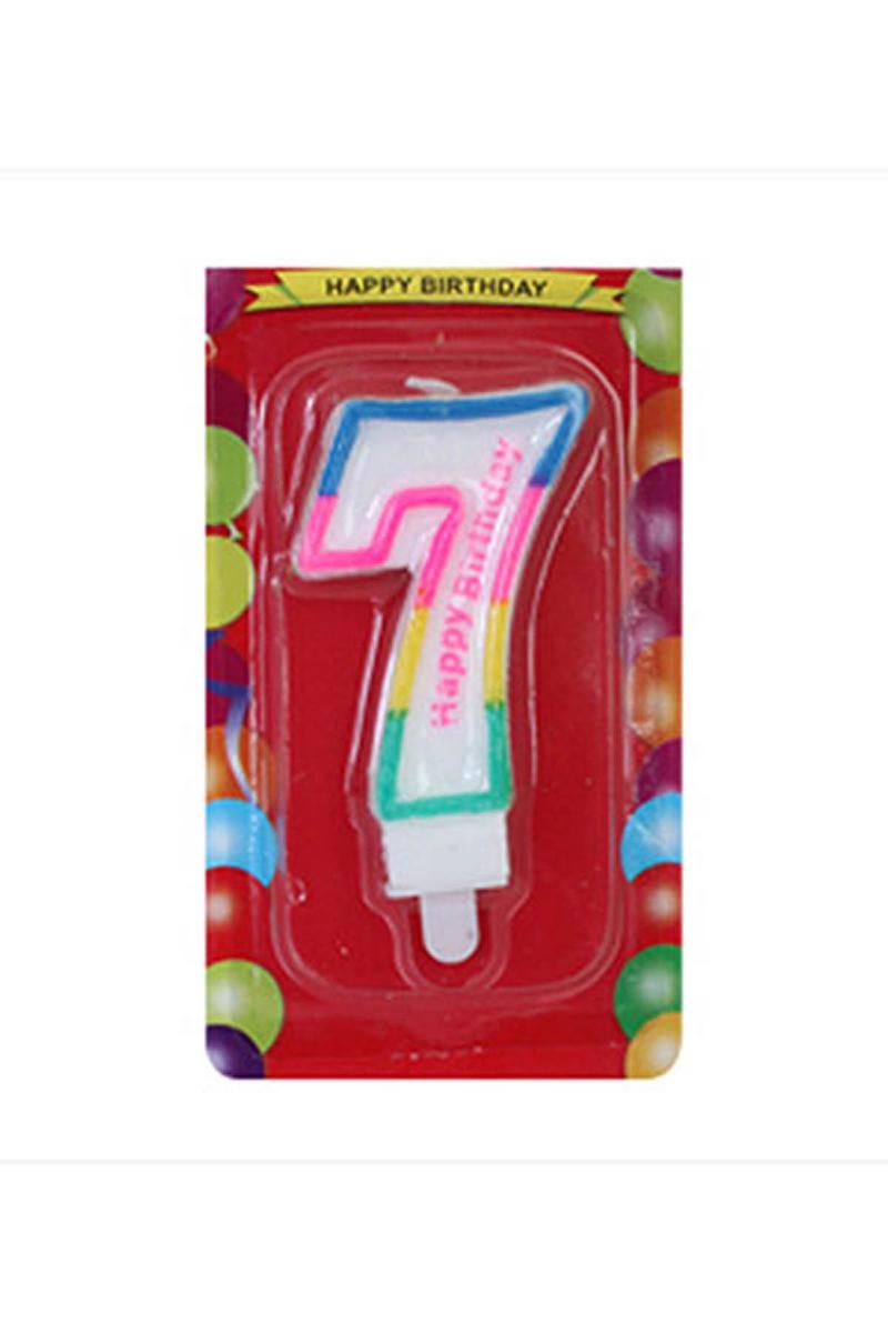 7 Yaş Doğum Günü Mum 1 Adet