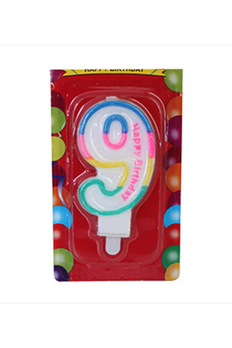 9 Yaş Doğum Günü Mum 1 Adet