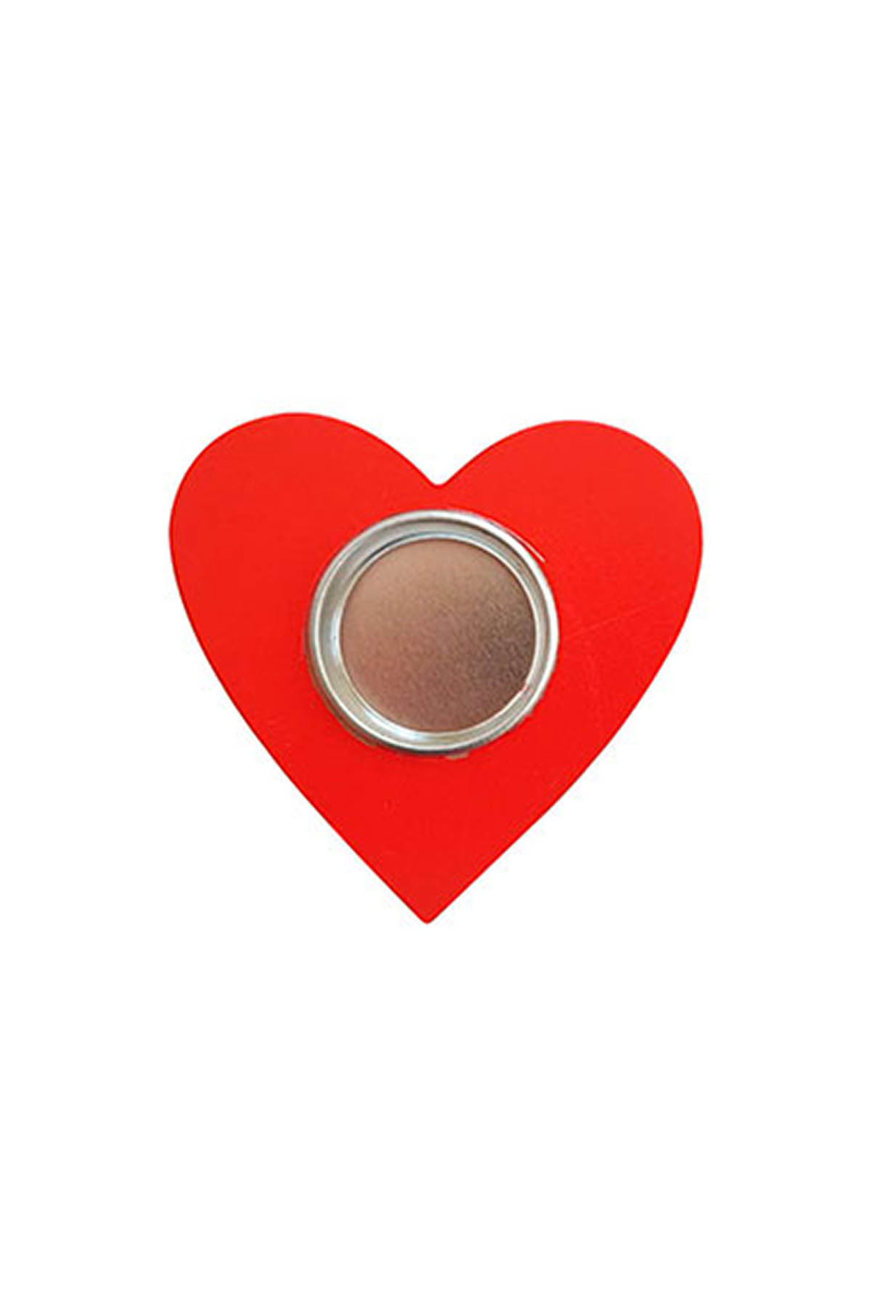 Ahşap Kalp Tealight Mumluk Kırmızı 1 Adet