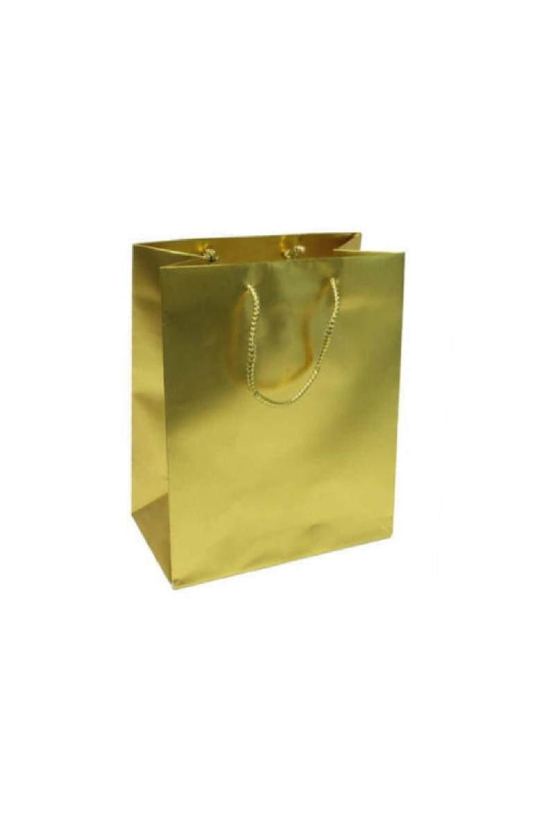 Altın Hediyelik Karton Çanta 11 x 11cm 10 Adet