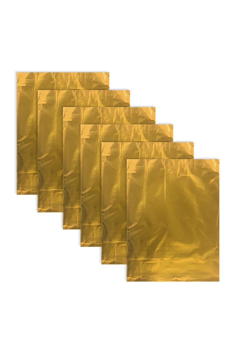Altın Metalize Hediye Paketi 25 x 35cm 25li - Thumbnail