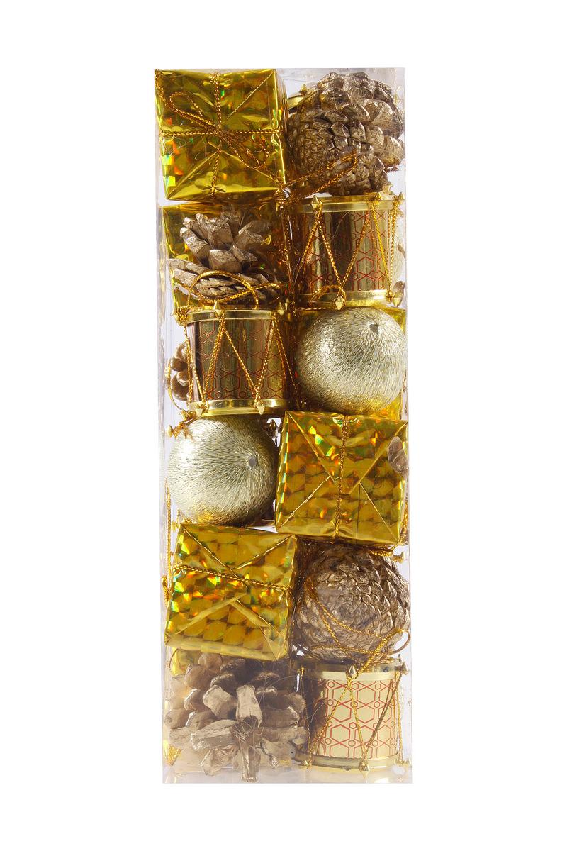 Altın Yılbaşı Ağaç Süs Seti 24lü