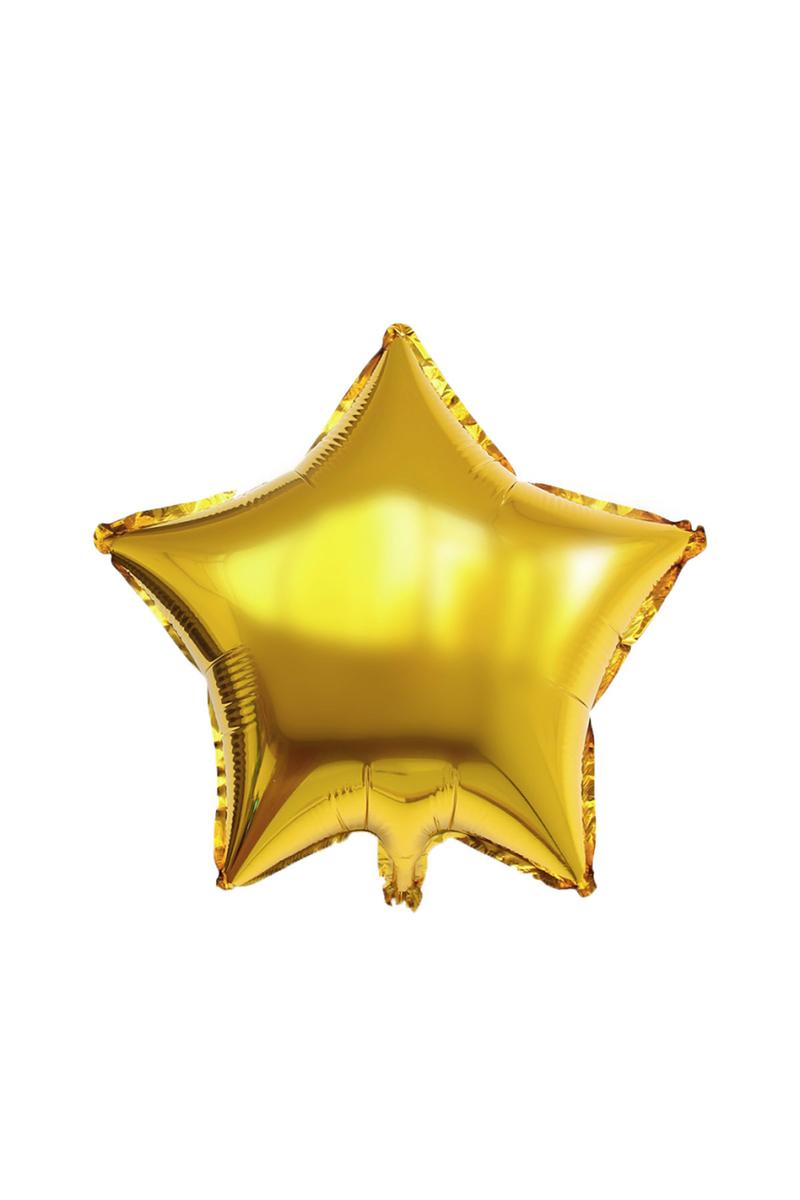 Yıldız Folyo Balon 45cm (18 inch) Altın 1 Adet