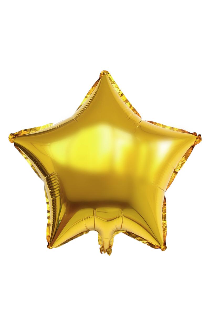 Yıldız Folyo Balon 60cm (22 inch) Altın 1 Adet