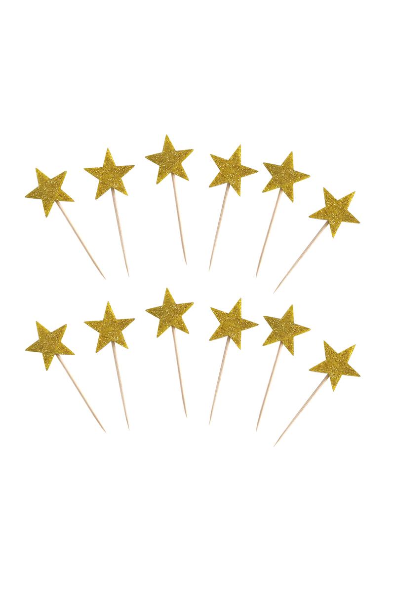 Altın Yıldız Simli Eva Kürdan 10lu