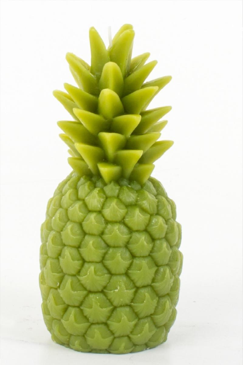 Ananas Şekilli Dekoratif Yeşil Mum 8 x 17cm 1 Adet