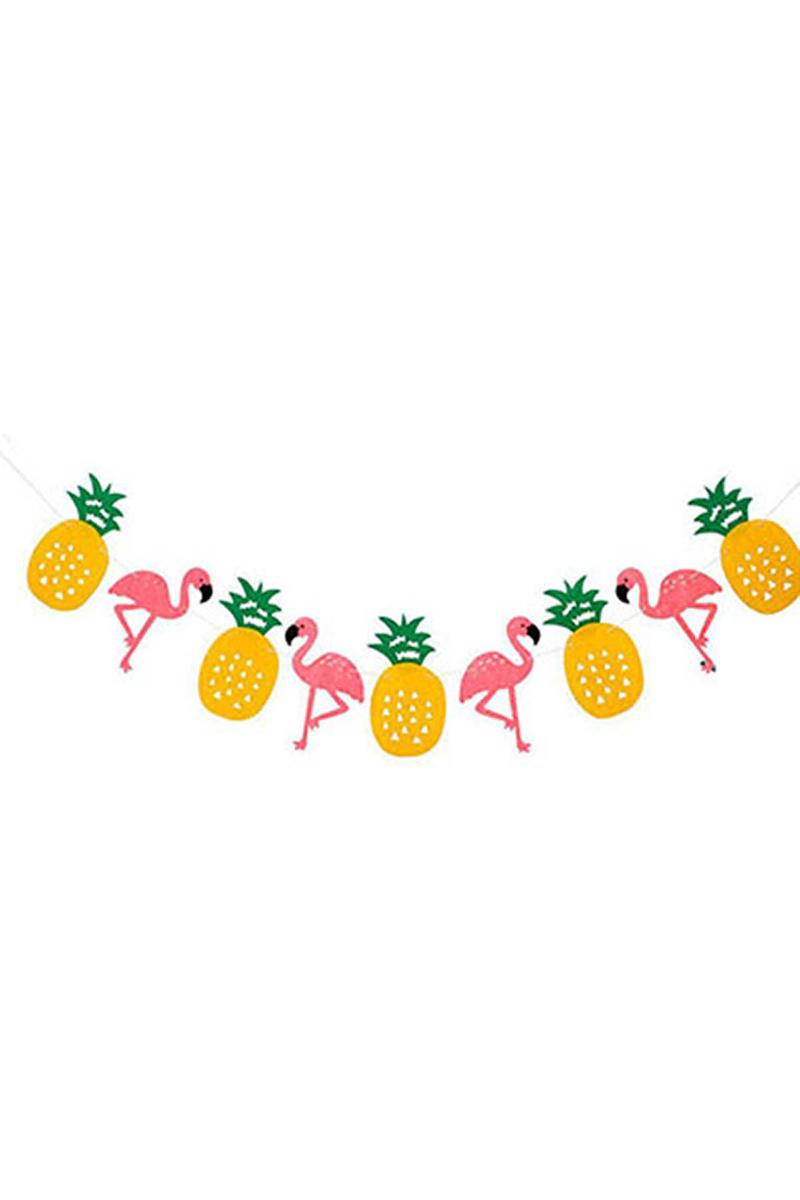 Ananas ve Flamingo Keçe İp Asma Süs 2,40m 1 Adet