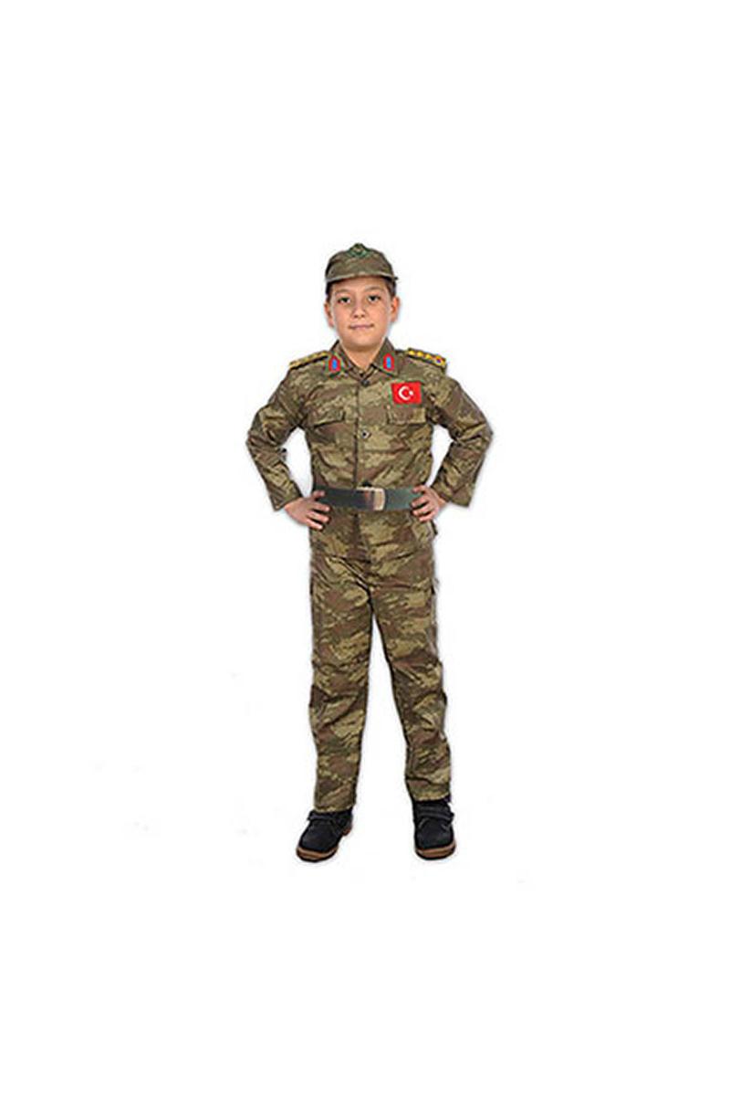 Asker Çocuk Kostümü 5-6 Yaş 1 Adet