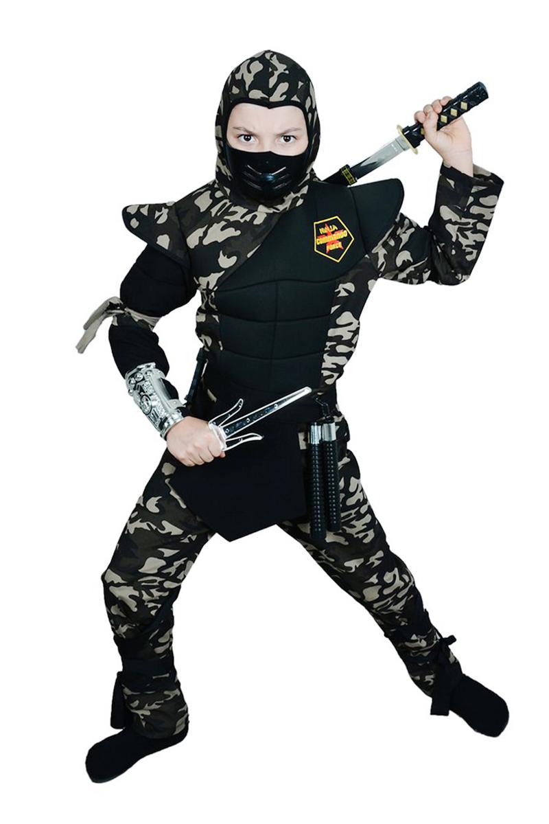 Askeri Komando Ninja Çocuk Kostümü Lüks 7-8 Yaş 1 Adet