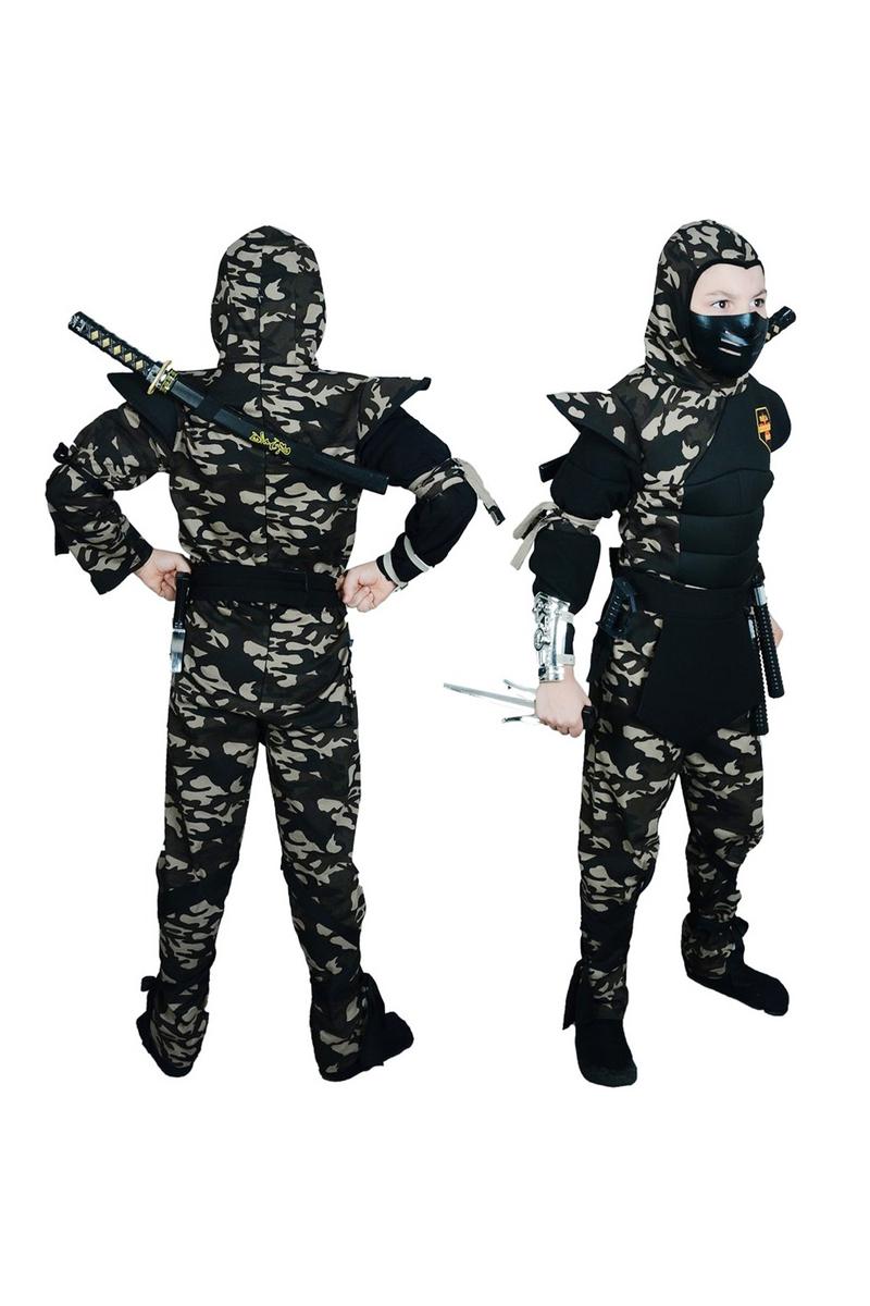 Askeri Komando Ninja Çocuk Kostümü Lüks 9-10 Yaş 1 Adet - Thumbnail