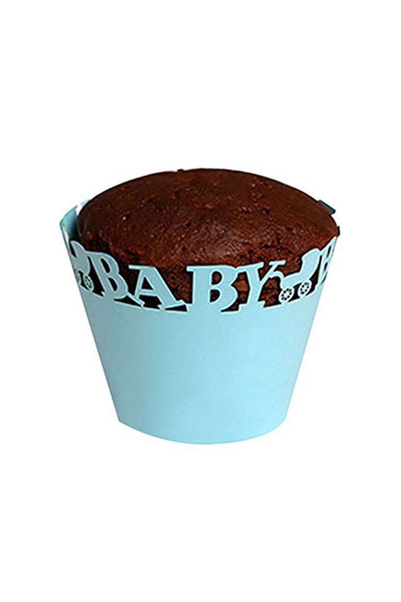 Baby Mavi Kek Tacı 10 Adet