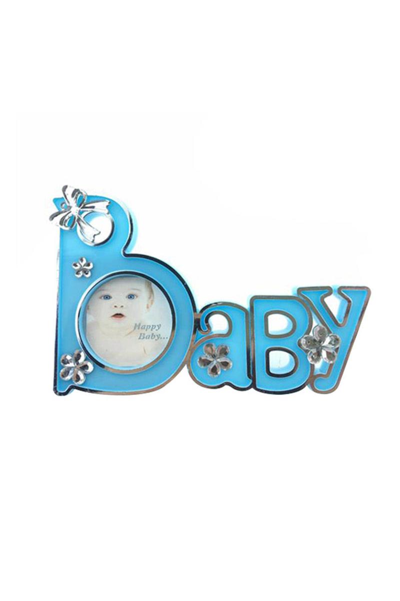 Baby Yazılı Hediyelik Magnetli Çerçeve Mavi 1 Adet