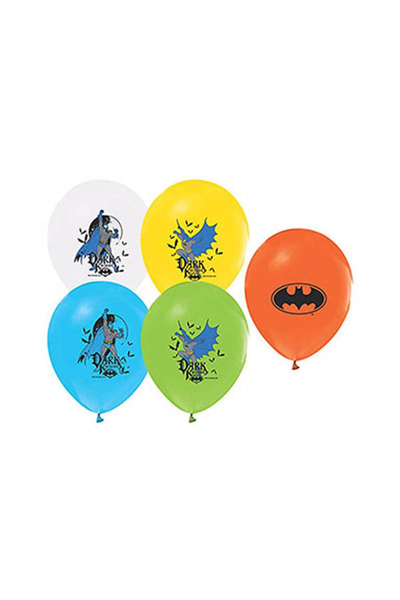 Batman Baskılı Balon 10lu - Thumbnail