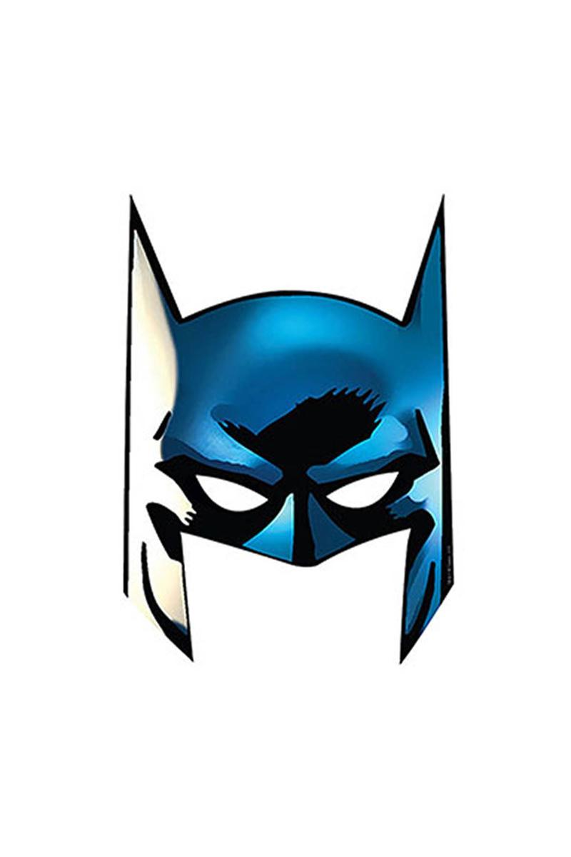 Batman Kağıt Maske 6lı