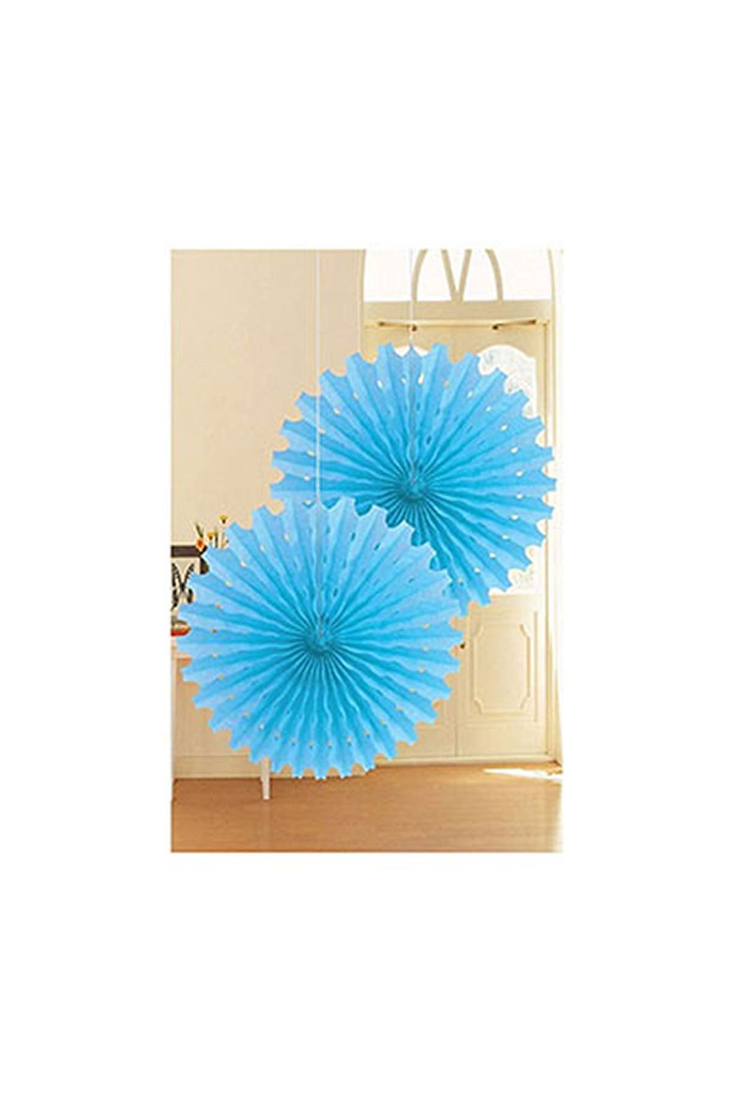 Yelpaze Süs Açık Mavi 50cm 2li
