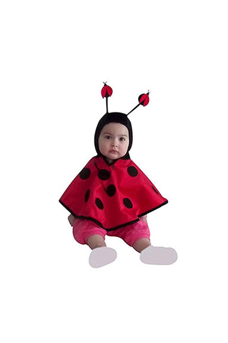 Bebek Uğur Böceği Kapüşonlu Pelerin 1-2 Yaş 1 Adet
