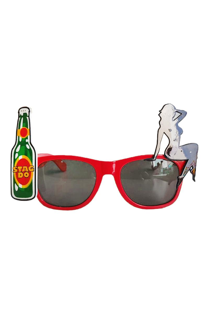 Bekarlığa Veda Partisi Parti Gözlük Kırmızı 1 Adet