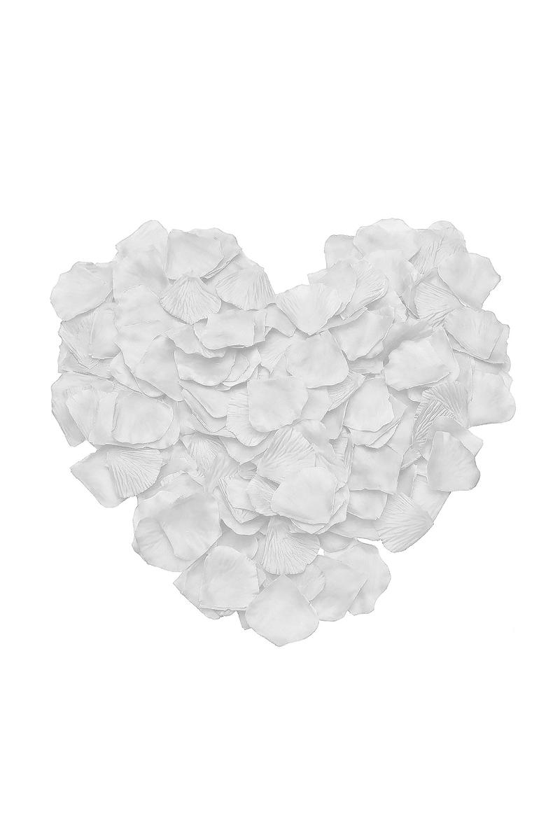 Beyaz Dökme Gül Yaprağı 144lü