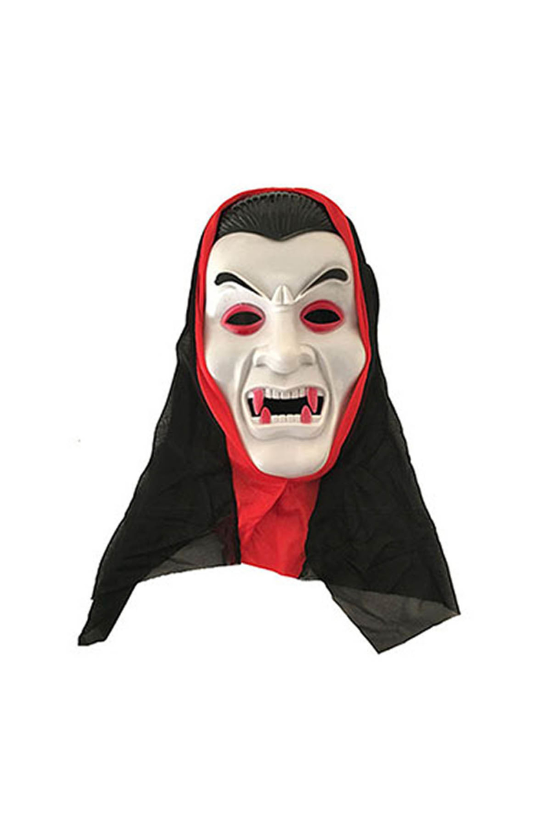 Beyaz Drakula Maske 1 Adet
