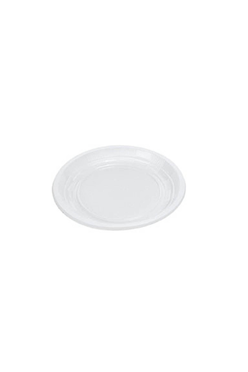 Beyaz Ekonomik Plastik Tabak 21cm 50li