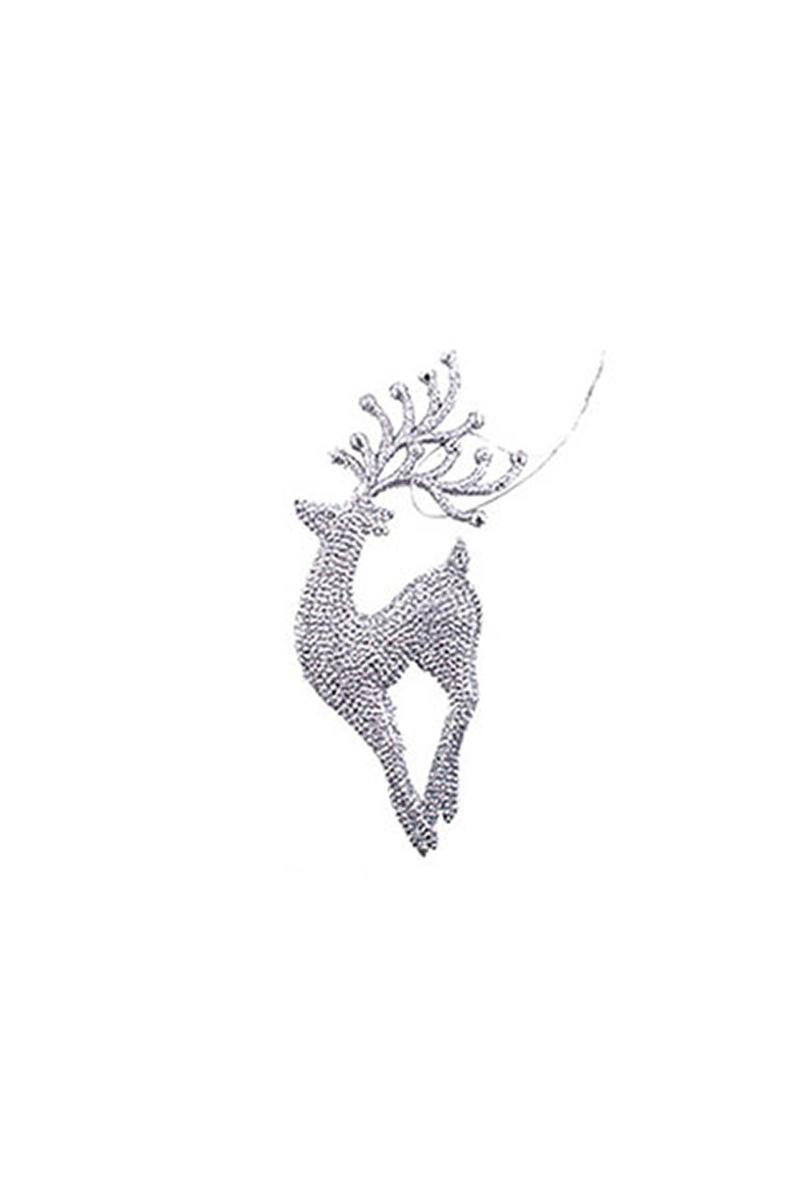 Gümüş Geyik Dekor Süs 16x7cm