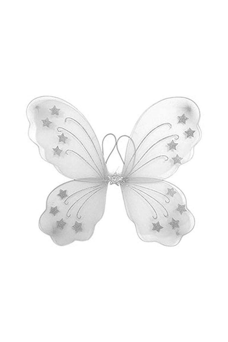 Beyaz Kelebek Kanat 1 Adet