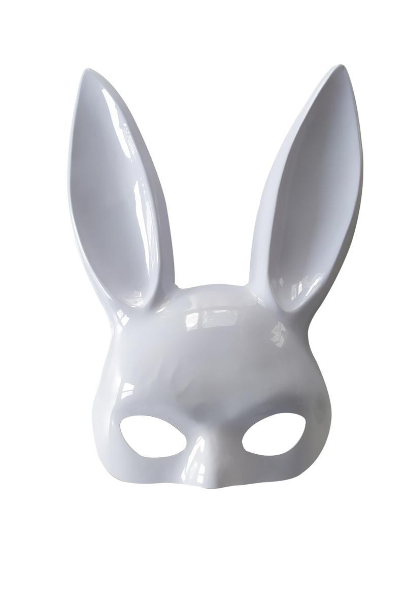 Beyaz Tavşan Maske 1 Adet