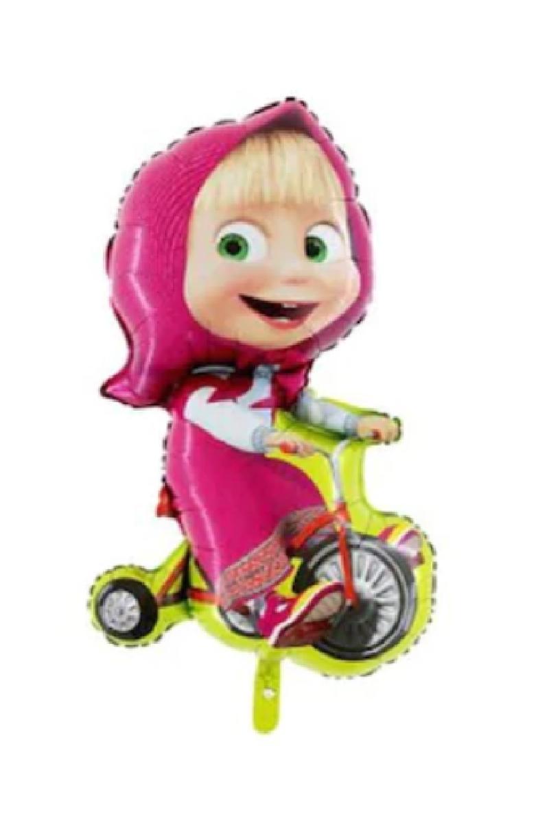 Bisikletli Masha SuperShape Folyo Balon 78cm 1 Adet