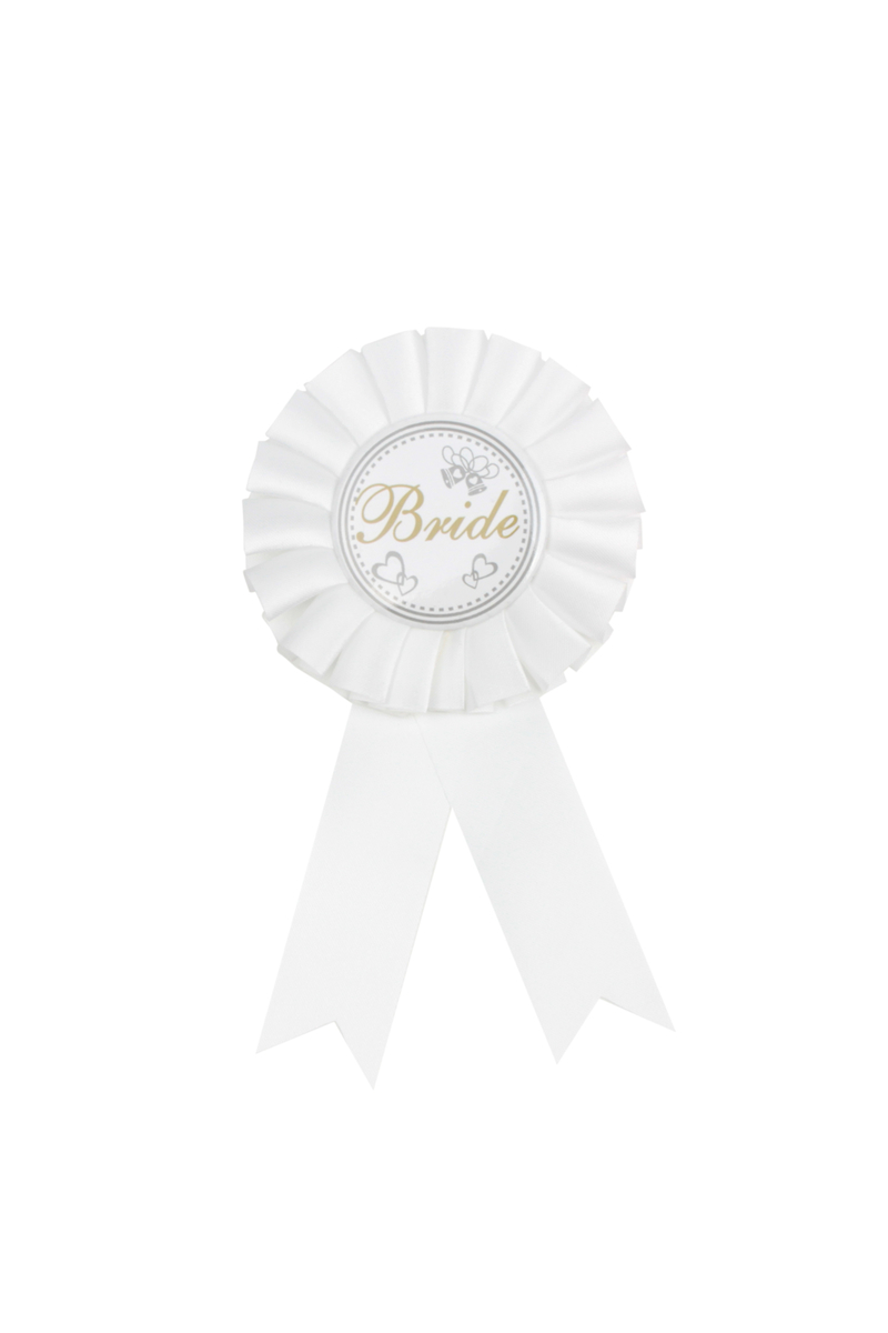 Bride To Be Beyaz Rozet 1 Adet