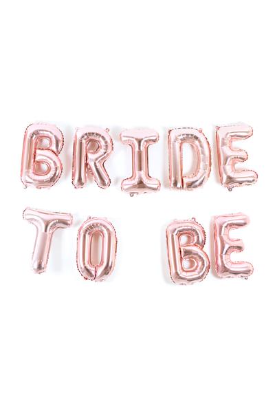 Bride To Be Rose Gold Folyo Balon Set 35cm
