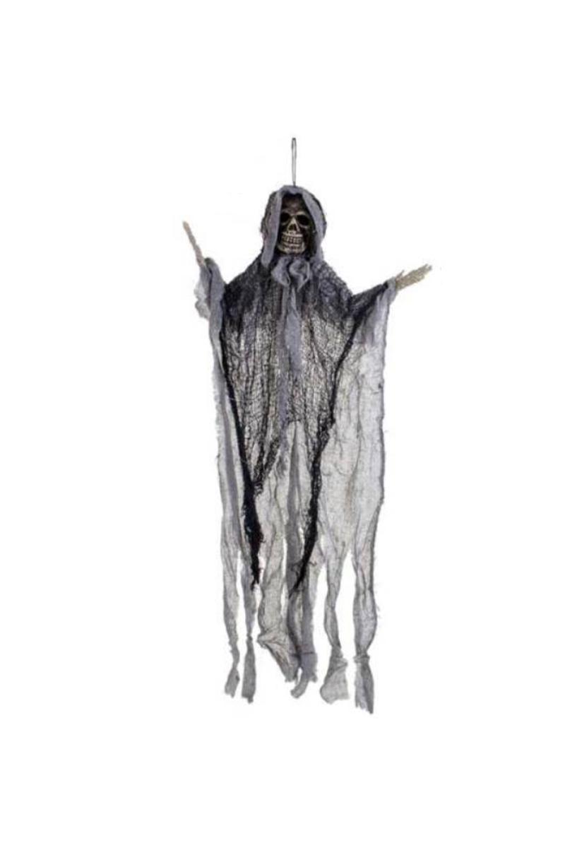 Cadılar Bayramı Askılı Siyah Hayalet Dekor Süs 42x80cm 1 Adet
