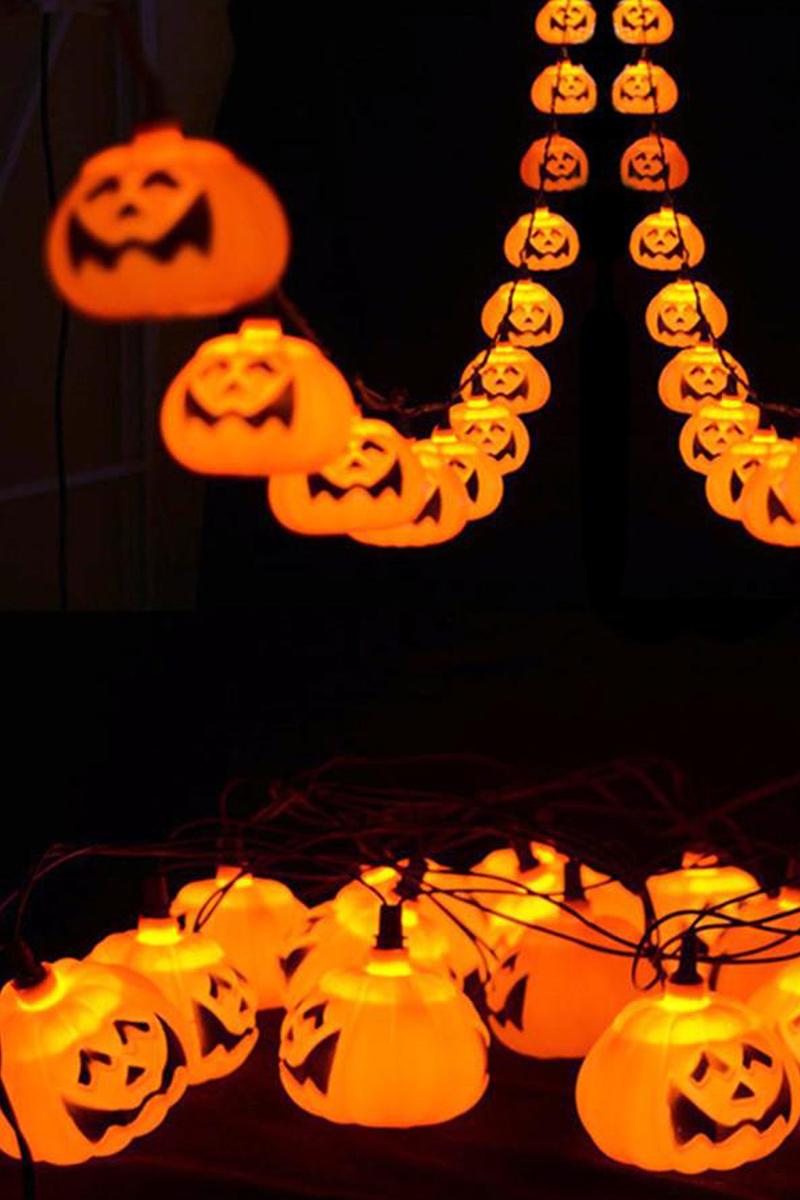 Cadılar Bayramı Işıklı Balkabağı Dekor Süs 10lu 1 Adet - Thumbnail