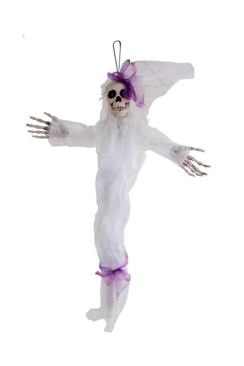 Cadılar Bayramı Işıklı Hayalet Dekor Süs Beyaz 70x100cm 1 Adet