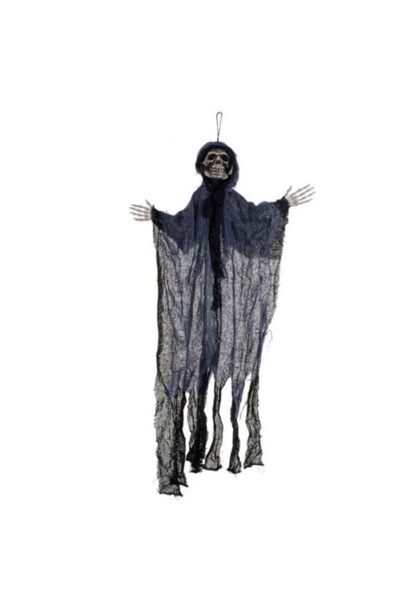 Cadılar Bayramı Işıklı Hayalet Dekor Süs Siyah 70x100cm 1 Adet