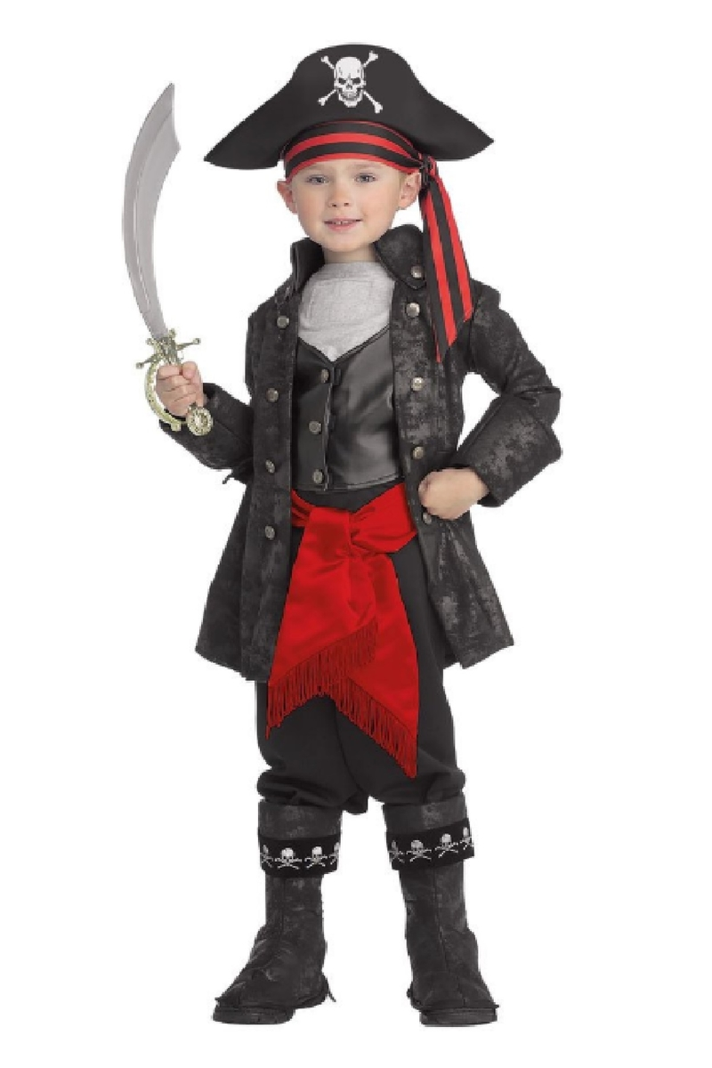 Cadılar Bayramı Kara İnci Korsan Çocuk Kostümü Lüks 3-4 Yaş