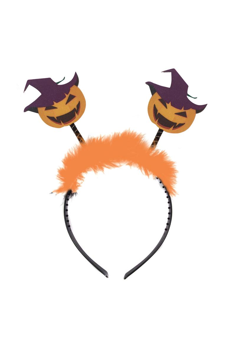 Cadılar Bayramı Şapkalı Balkabağı Parti Taç Model-1