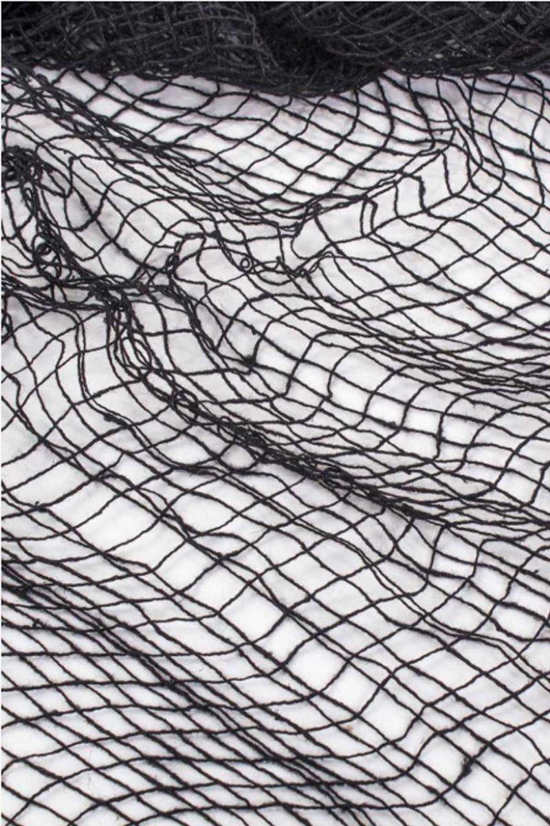Cadılar Bayramı Siyah Ağ Dekor Süs 76x198cm 1 Adet - Thumbnail