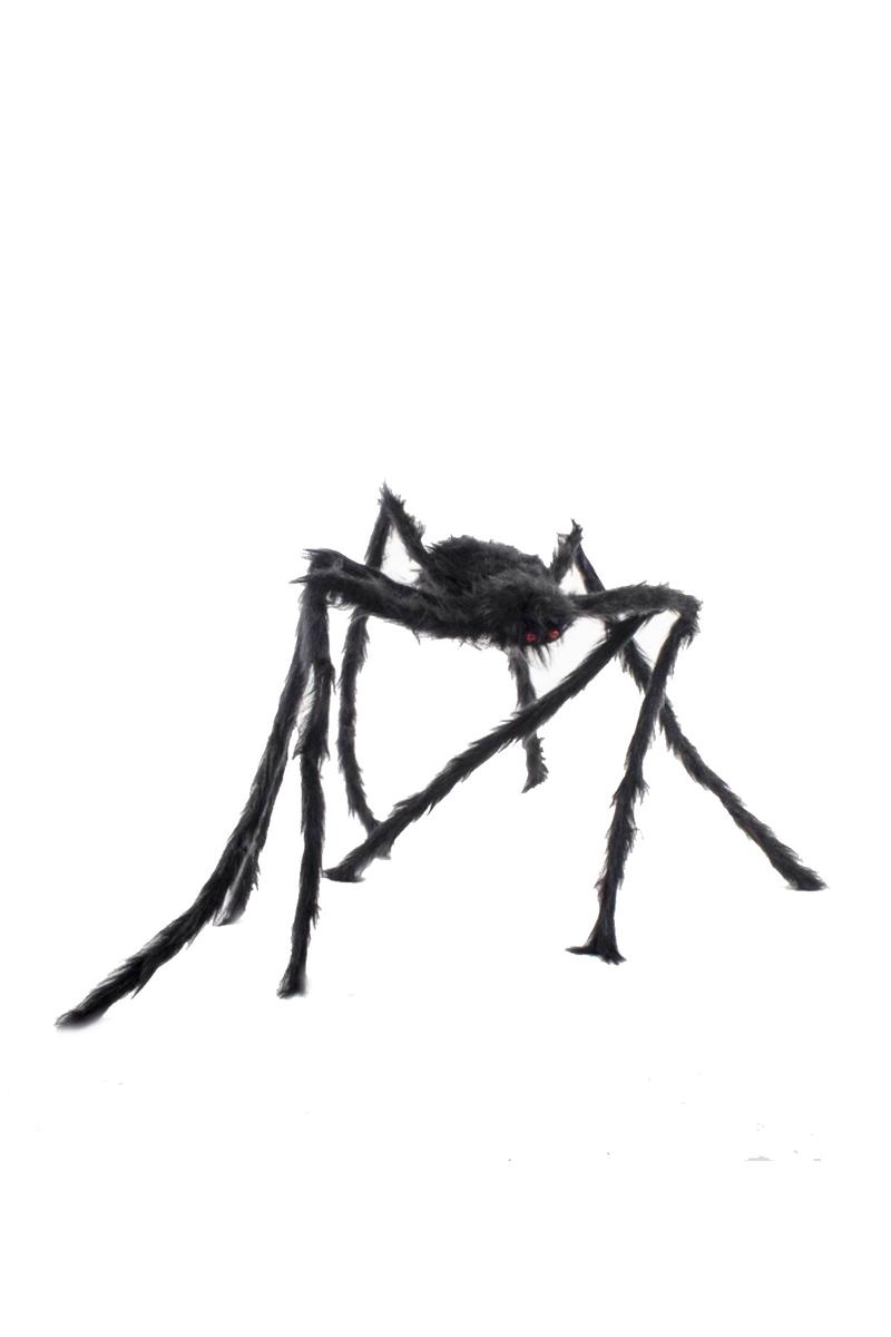 Cadılar Bayramı Siyah Tüylü Örümcek 100cm 1 Adet