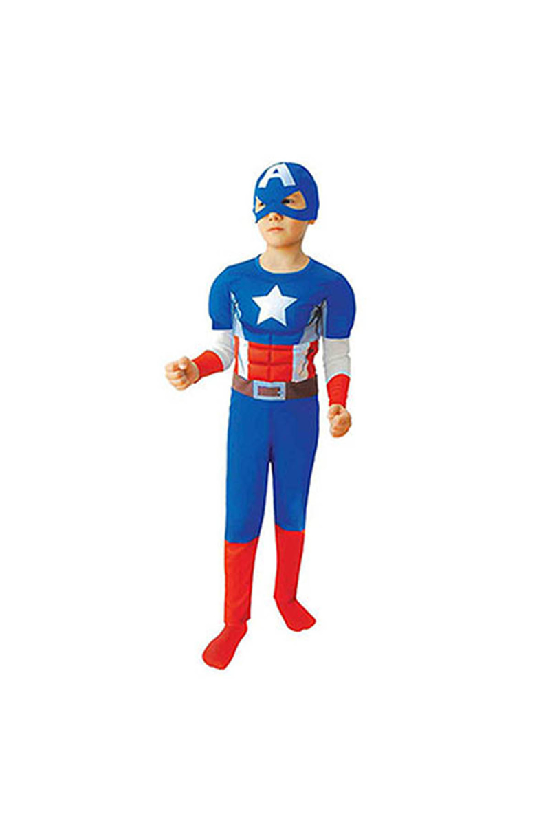 Kaptan Amerika Çocuk Kostüm 4-6 Yaş 1 Adet